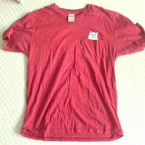 Rip n dip red cat shirt